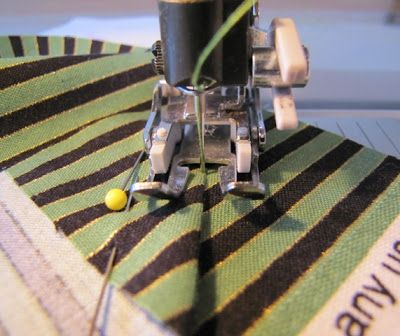 how to sew together & line striped fabric perfectly when you are making your binding strips or border fabric as well.  This is the first time I have ever seen a tutorial on this subject and I have really needed this!