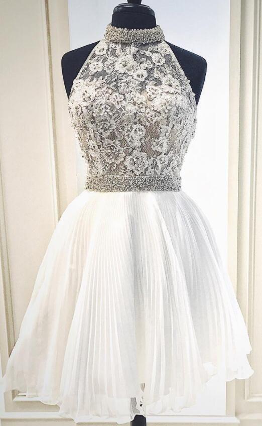 32fb9e72a34 cute short white prom dress homecoming dress, 2018 short prom dress  homecoming dress