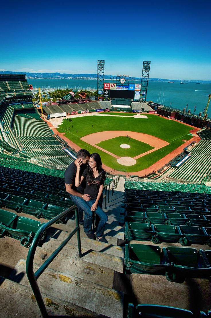 Baseball Engagement Pictures San Francisco Giants  Engagement Photo Shoot