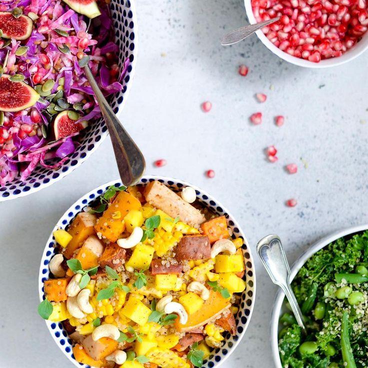 @vanloseblues EAT A RAINBOW 🌈  #opskriftpåbloggen #direktelinkibio #vegan #veganfood #glutenfree #eatarainbow #plantbaseddiet #hübsch #hübschinterior