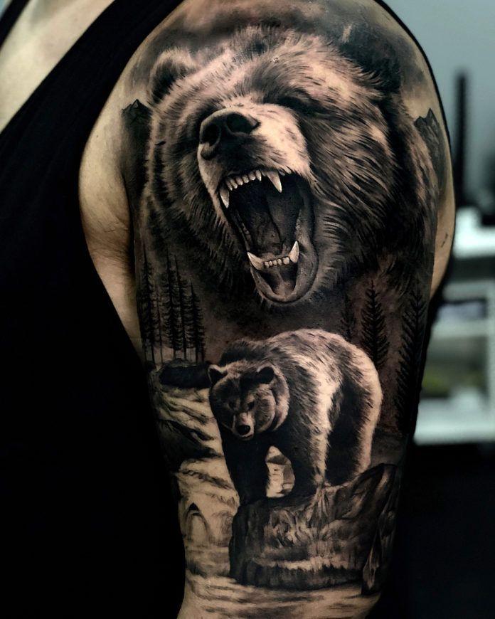 37+ Tete d ours tatouage inspirations