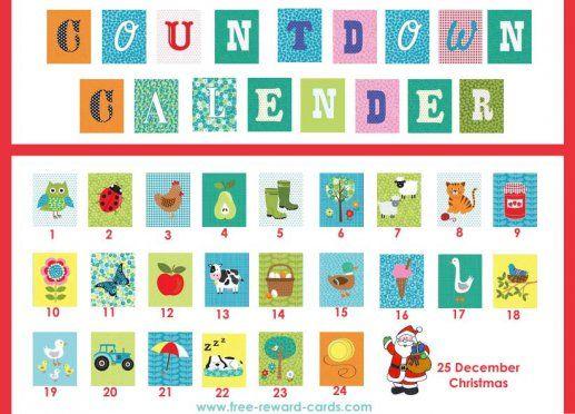 Best Countdown Calendars Images On   Kid Birthdays