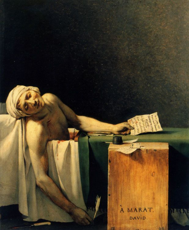 Jacques-Louis David - Marat assassiné 1793