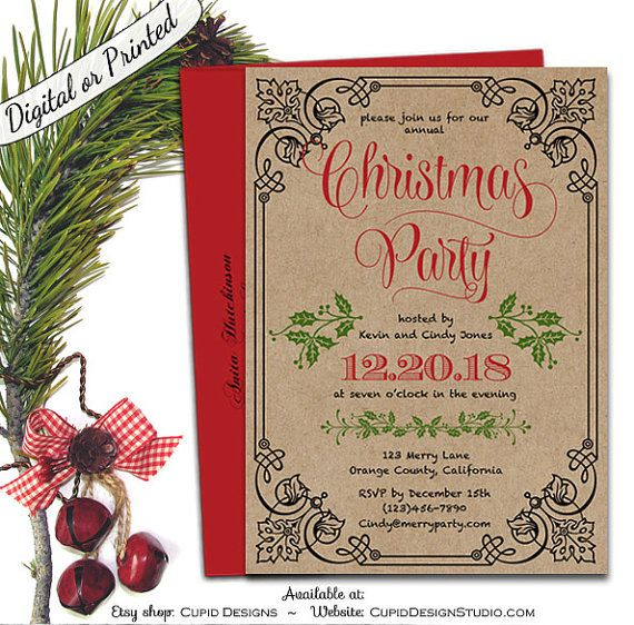 182 best Christmas\/Holiday Party essentials images on Pinterest - christmas menu word template