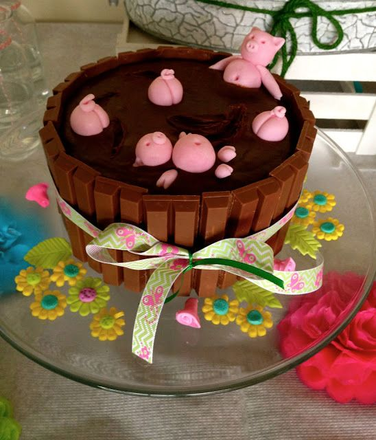 The gallery for --> Pig Birthday Cake With Kit Kats