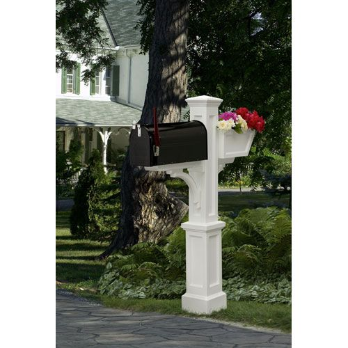 Westbrook Plus White Mailbox Post Mayne Post Mailboxes Outdoor