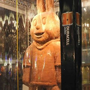 The Guiness World Record-holding largest rabbit was made by Duracell South Africa in March 2010. The giant dessert weighed more than 6,635 pounds!