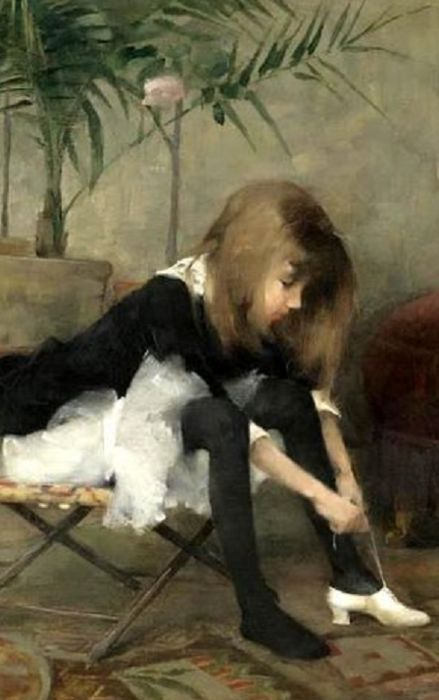 Dancing Shoes, 1882 / Helene Schjerfbeck