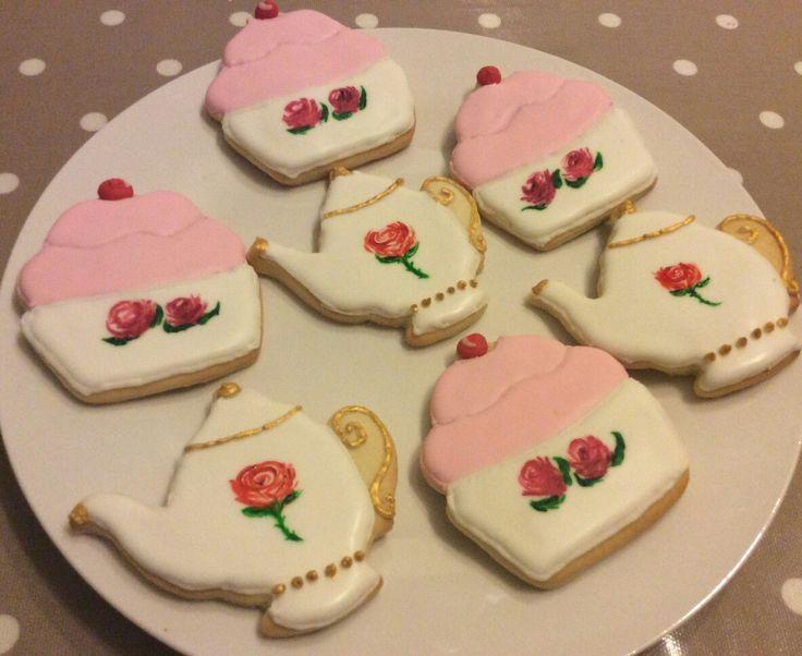 Tea Party Cookies @thelittlebakingco