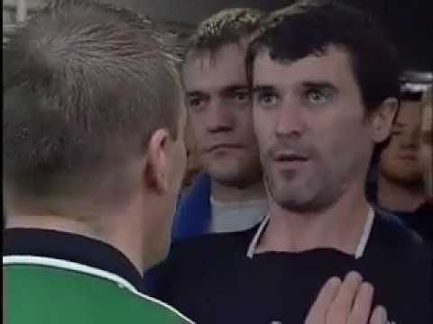 ▶ Roy Keane and Patrick Vieira fight in tunnel at Highbury - YouTube