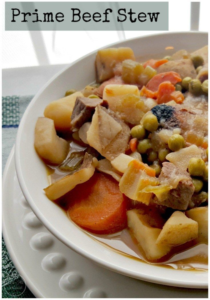 his hearty Prime Beef Stew is a family winter favorite around here. Living in Maine our weather can be nice one minute and sub-below the next. A nice warm bowl of Prime Beef Stew is always on our menu...