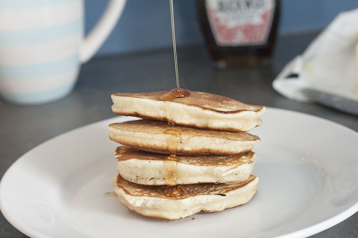 pancake recipe, stack and maple syrup