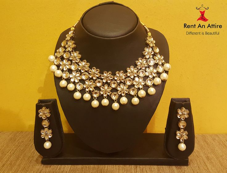 Royalty stands apart as unique and classy. Accessorize your wedding dress with our New jewelry collection!! Our jewellery designs are a bang on trend! And very beautiful with it's nod to Indian styling.  Try it ♡ Book it ♡ Flaunt it ♡  For bookings & more information, call us on 7722009477. Happy Renting !!