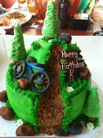 Mountain bike birthday cake!!