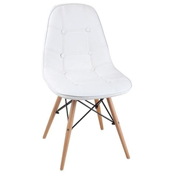 Leather chair in white www.inart.com