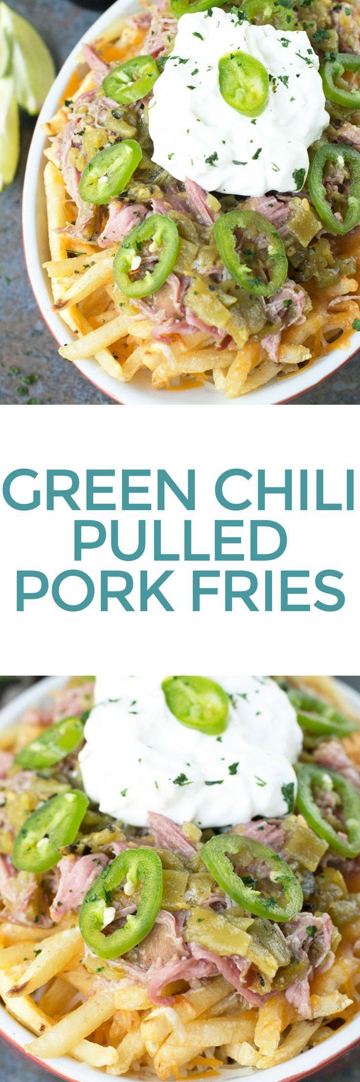 Green Chili Pulled Pork Cheese Fries | Cake 'n Knife