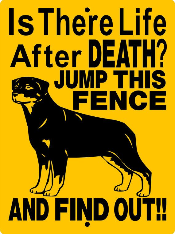 ROTTWEILER Dog Sign 9x12 ALUMINUM 2562a by animalzrule on Etsy, $12.00