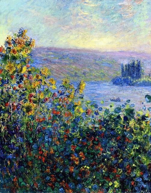 Flowers beds at Vétheuil - Claude Monet  1881