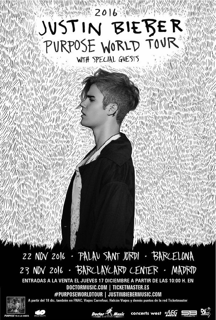 Las entradas para los próximos conciertos de Justin Bieber en Barcelona y Madrid ya están a la venta