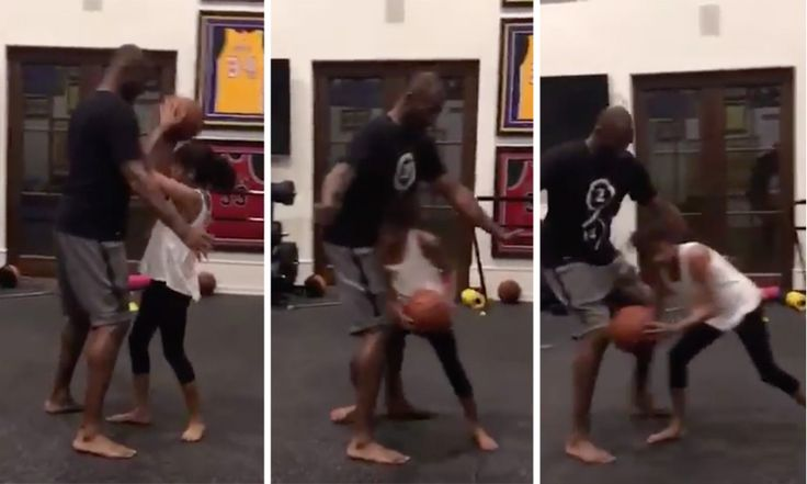 Kobe Bryant's Daughter Gianna Gives Her Dad Buckets
