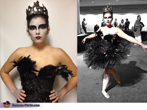Black Swan Costume-love the red contacts!
