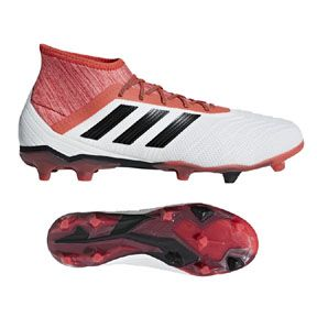 adidas Predator 18.2 FG Soccer Shoes (White/Black/Red): https://www.soccerevolution.com/store/products/ADI_10814_F.php