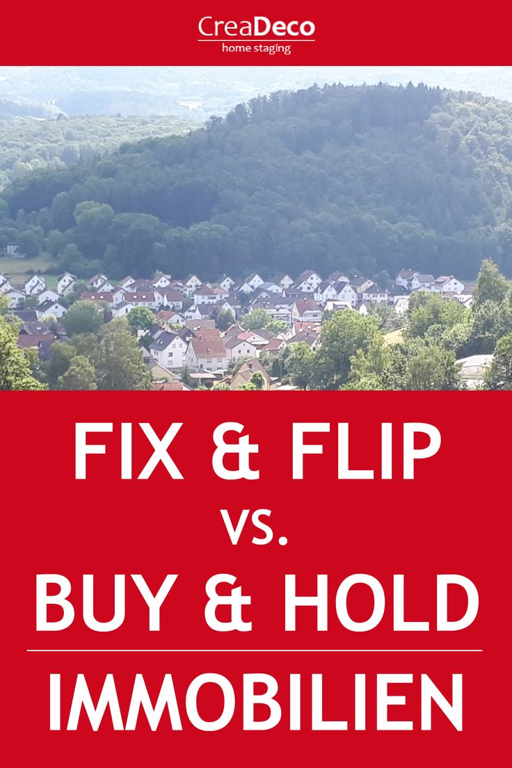 """Home Staging als Basis für """"Buy and Hold"""" und """"Fix and"""