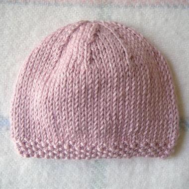 patron tricot bonnet naissance