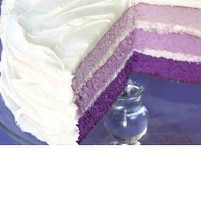 Purple-rific Layer Cake. So cute!! | everything else. | Pinterest