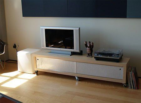 How To: Turn an Ikea Lack Shelf into a Media Console