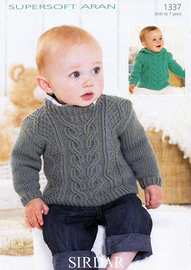 Sirdar Supersoft Aran Baby Knitting Pattern 1337 | eBay