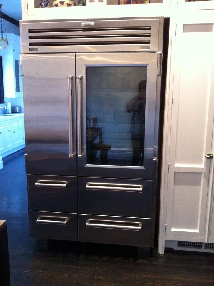 Glass Front Sub Zero Refrigerator! (above) Glass Upper Cabinets With .