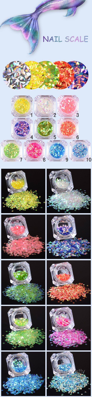 $1.29 1 Box 2g BORN PRETTY Fish Scale Nail Sequins 2.5mm Paillette Hexagon Glitter Manicure Decor - BornPrettyStore.com