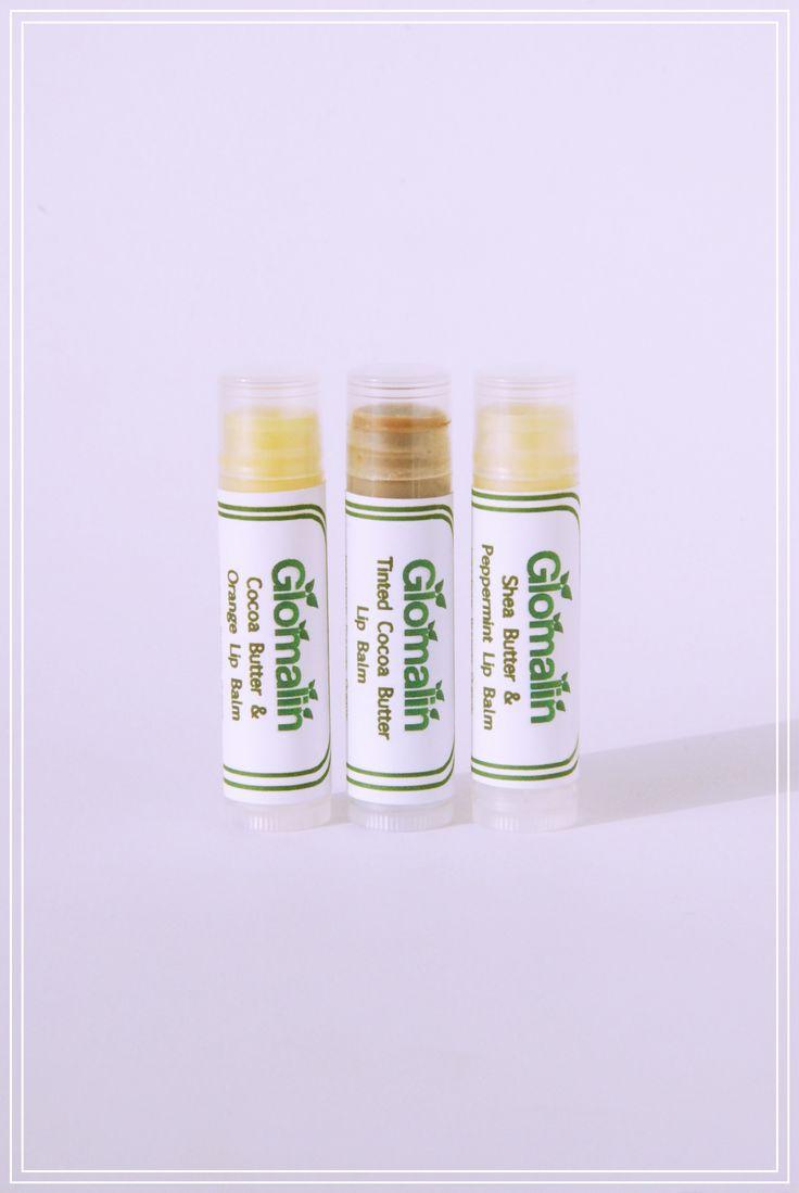 Glomalin Lip Balm Trio made from certified organic ingredients, shop at www.glomalin.ca