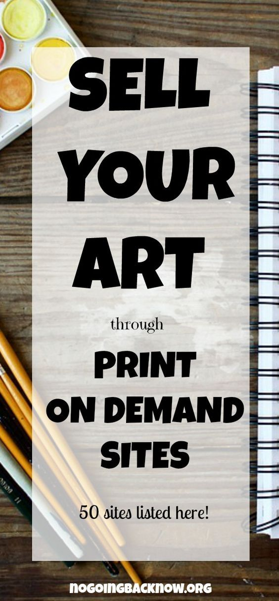 If you have any interest in selling your art, this post explains how to get started and 50 sites to upload your art to. No start up fees! #makemoneyonline #workfromhome