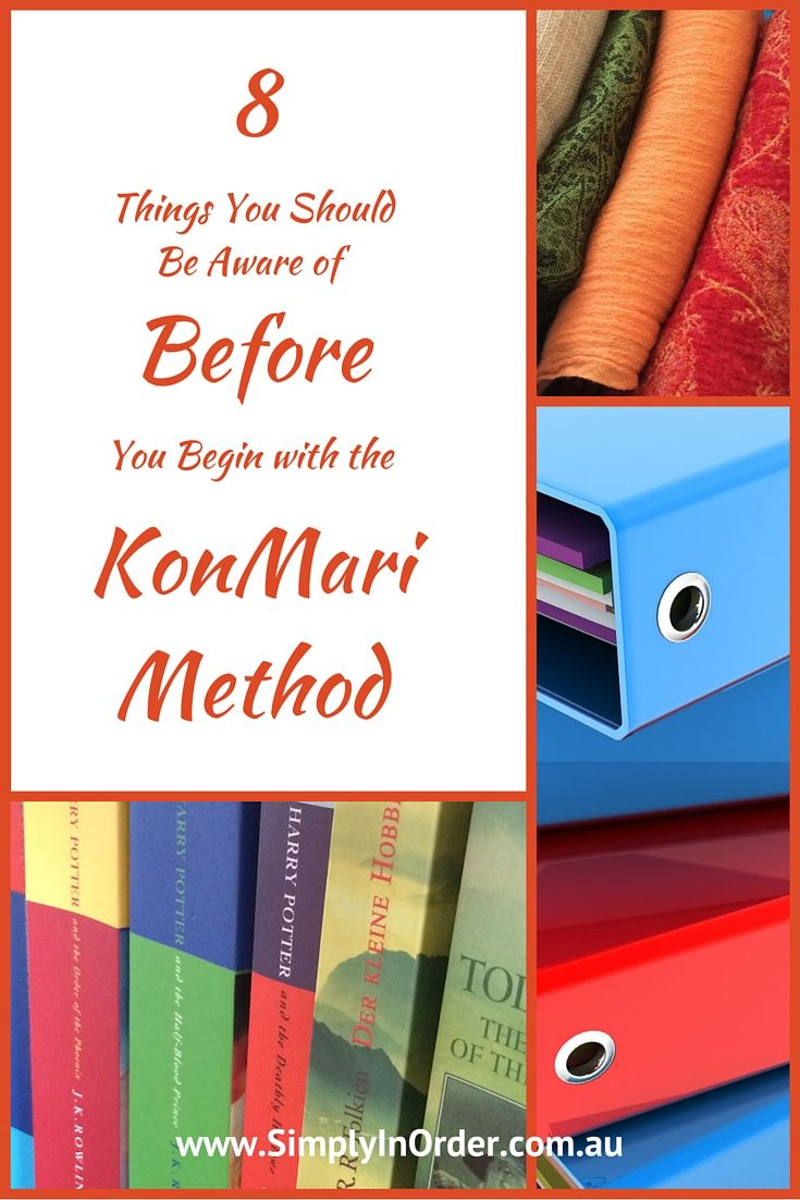 8 things you should be aware of before you begin with the KonMari method