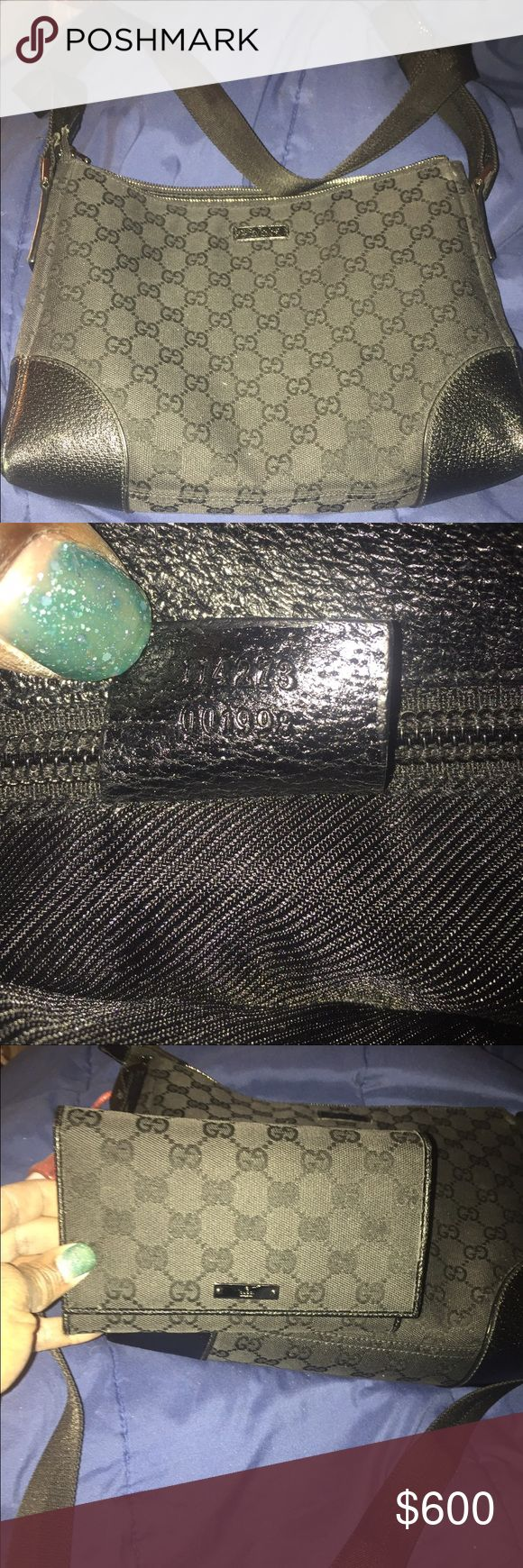 🛑ON HOLD🛑. Authentic Gucci cross body & wallet Used Gucci bag, it is a cross body bag, bag have very minor scuffs on both sides of the bag & I mean very minor that is barley even noticeable, nice size everyday bag & it holds a lot, the wallet I separate from the price of this bag, wallet have lots of departments for bills, checks, change etc. I can bundle the wallet with the bag of interested in them both, I brought  from another posher 4 my daughter,  If u need more pics they will be…