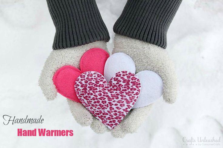 Warm Hearts=Warm Hands! How to Make Handmade Hand Warmers via www.CraftsUnleashed.com