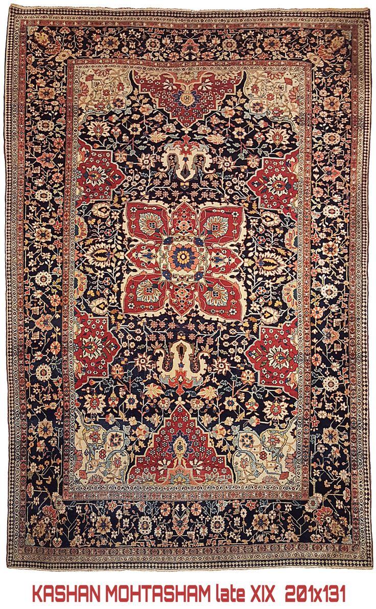 Mohtasham World Class Kashan Carpet 1890 Ca 201x134