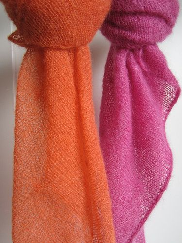 Free Knitting Pattern For Mohair Shawl : Free pattern. Pretty, light, and practical. Great shawl for spring and summer...