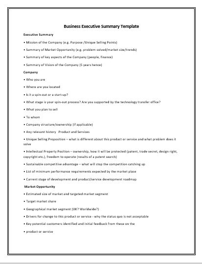 Executive-Summary-Template