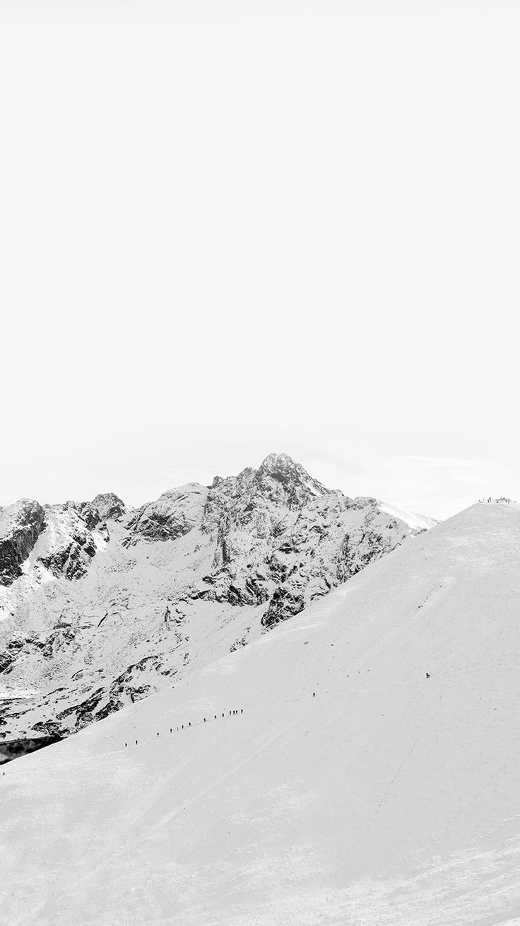 Image Result For Black And White Mountains Wallpaper Minimalist Snow Snow Wallpaper Iphone White Wallpaper For Iphone Minimalist Wallpaper