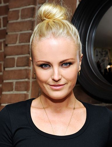 """""""You throw it up in a bun, it's the easiest way to impress,"""" #MalinAkerman told InStyle.com. #TopKnot http://news.instyle.com/photo-gallery/?postgallery=129935#"""