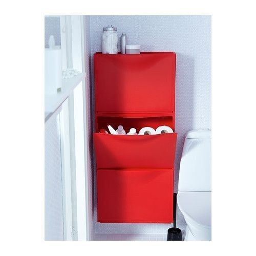 Trones also work well in small spaces like bathrooms to hide toilet paper rolls and cleaning supplies. | 37 Clever Ways To Organize Your Entire Life With Ikea