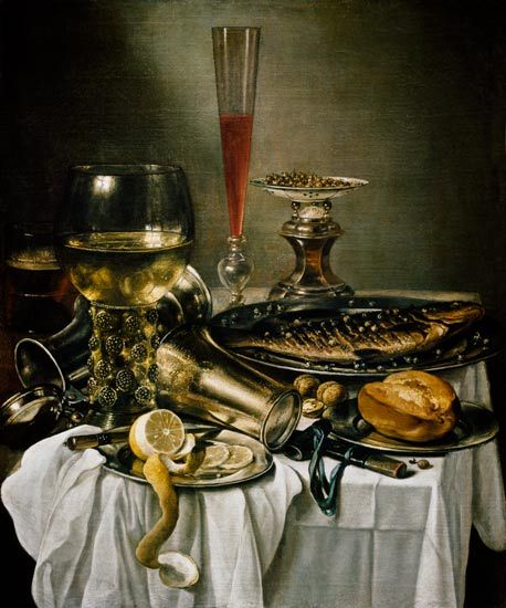 Pieter Claesz (Dutch, 1597/1598-1660) - Still life with a fish