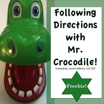 Download this following directions freebie to pair with the game Crocodile Dentist, or use with any board game you can think of! Directions focus on movements and body parts, and range from one step directions to multi-step directions. Looking for other super fun games to target language?
