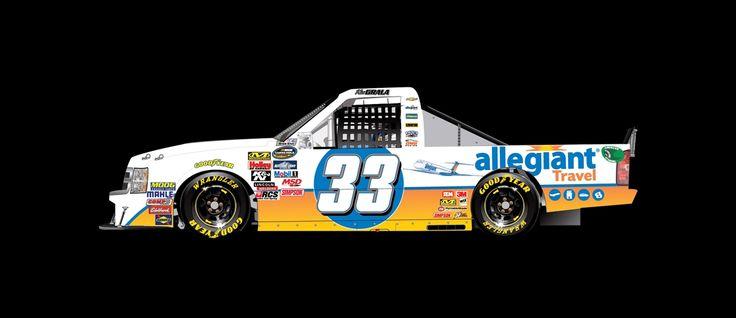 Paint Scheme Preview: Martinsville Wednesday, March 30, 2016 Kaz Grala will drive the No. 33 Allegiant Travel Chevrolet.