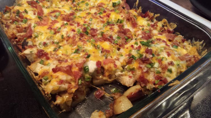 Chicken Bacon Ranch Potato Bake! -We enjoyed this one!! 8/10 my score and husband score