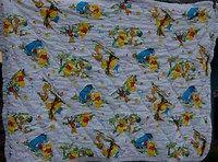 Vintage Winnie the Pooh Baby Blanket