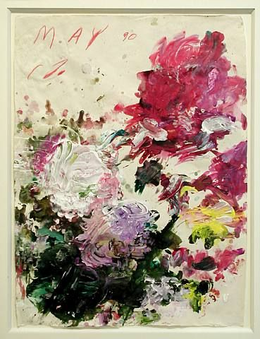 Art in the Abstract. modern painting by Cy Twombly | Untitled, 1990